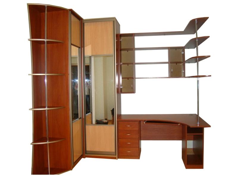 Купить угловой шкаф-купе энгл 21 со столом, низкие цены инте.